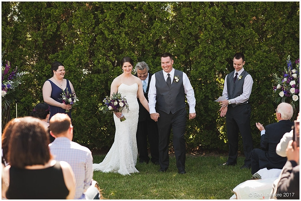bride and groom announced as husband and wife