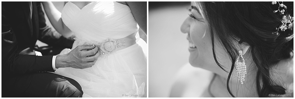 bride wedding attire details