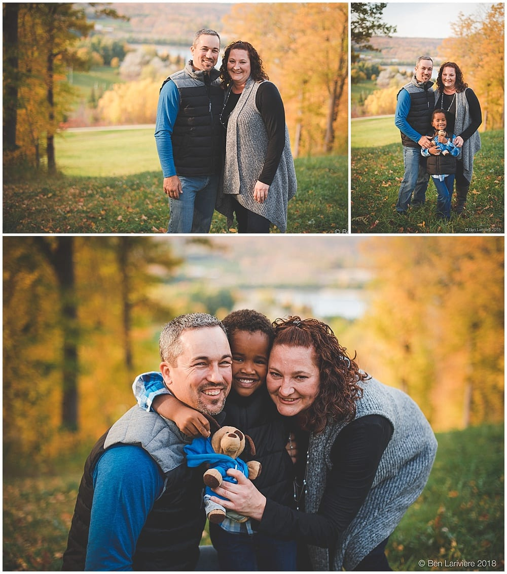 Autumn Family Portraits with stuffed dog