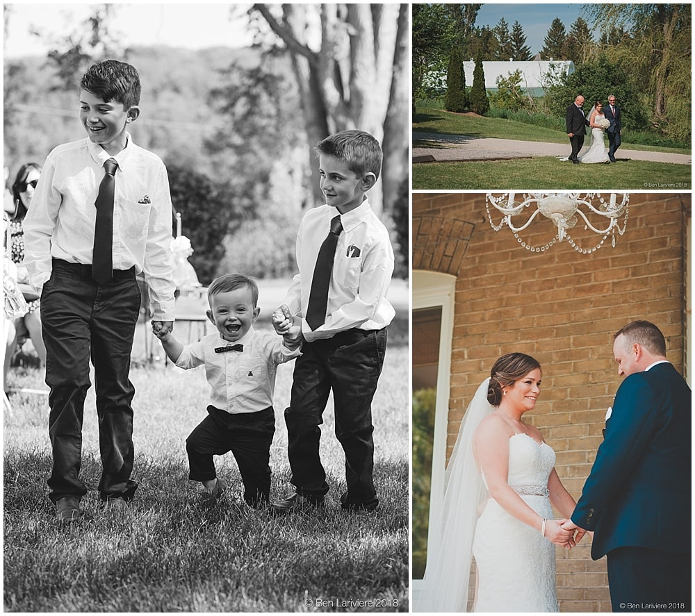 ring bearers and bride wedding processional