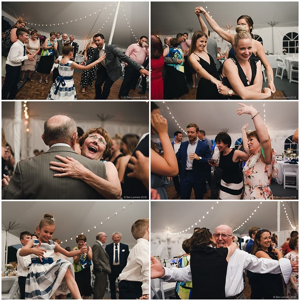 tent wedding reception dancing photos