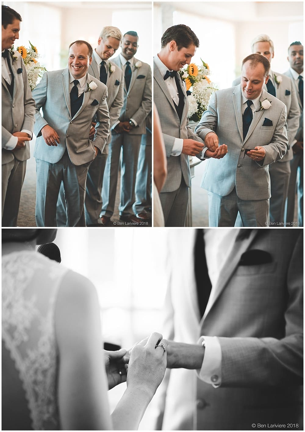 best man gets wedding bands from pocket