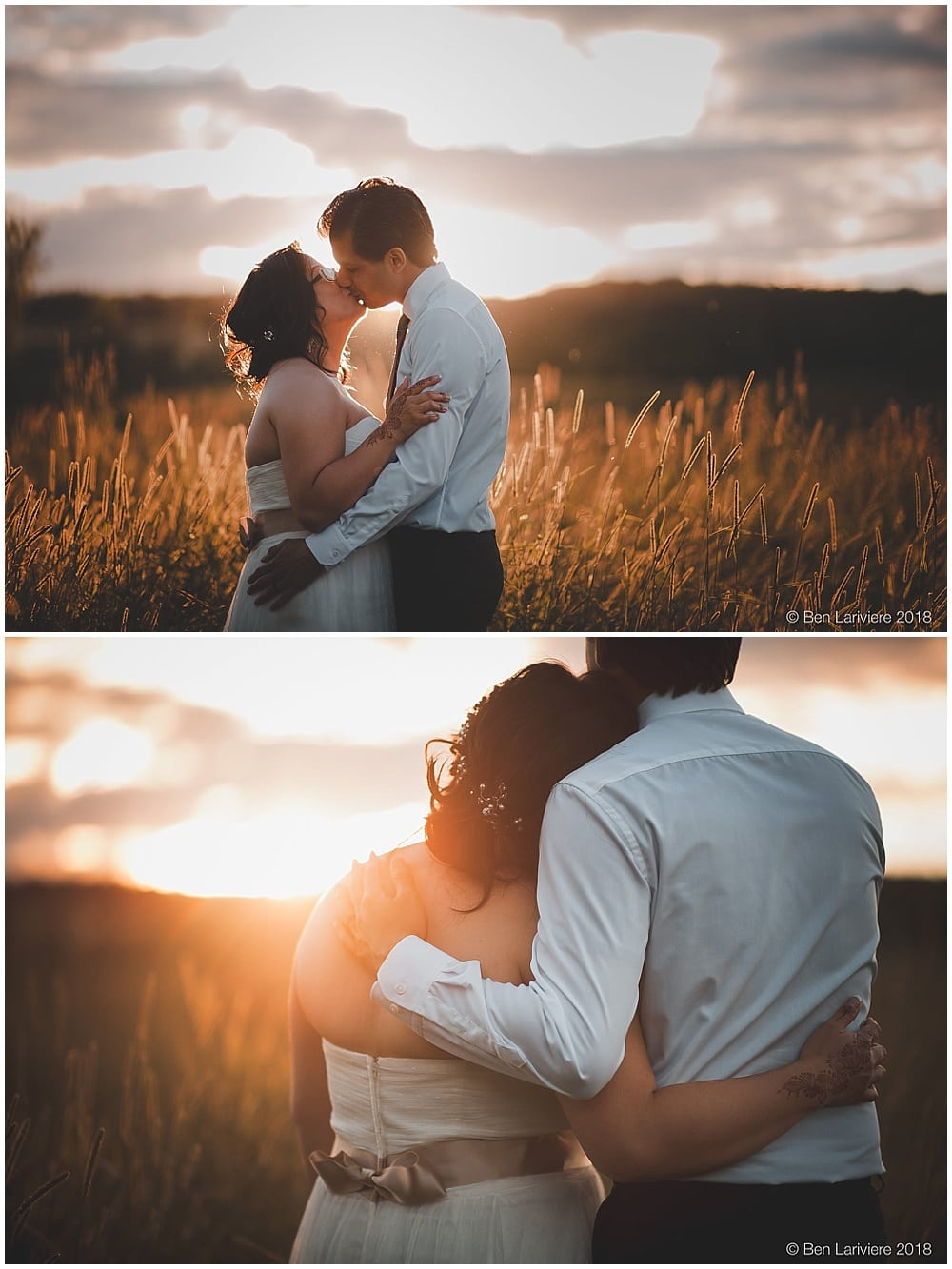golden hour sunset wedding photos bride and groom portraits burlington toronto