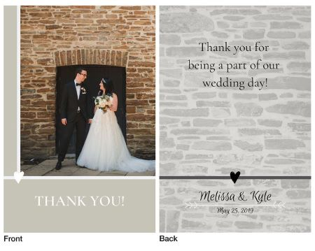 Old Mill Wedding Thank-You Card Design