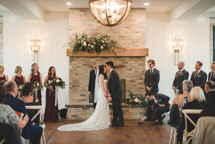 Foundry Indoor Wedding Ceremony at Elora Mill
