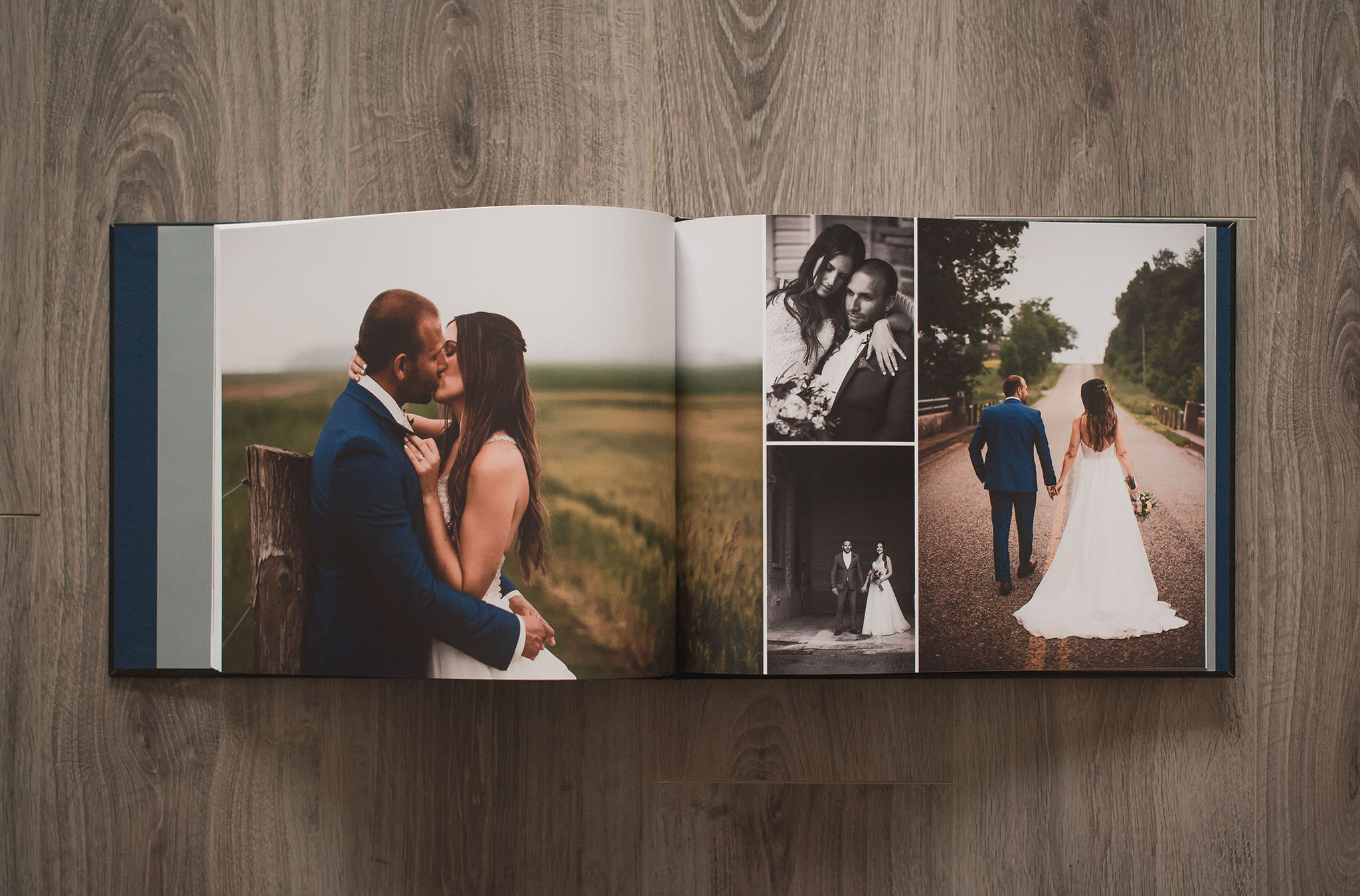 A beautifully custom-designed, hardcover photo album to relive all your favourite wedding memories.